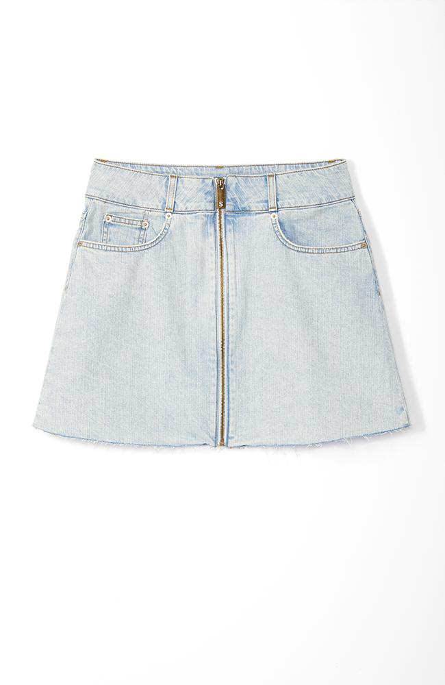 Highline Denim Skirt in Light Wash.