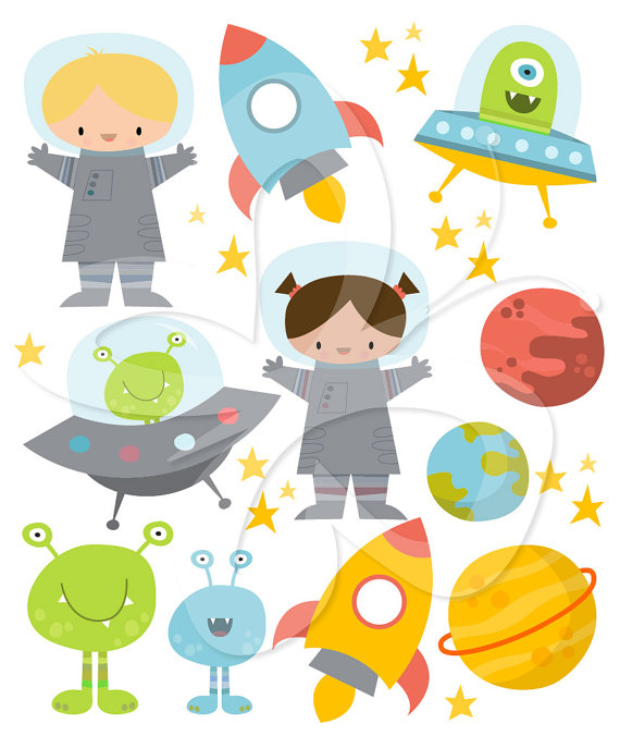 Space clipart commercial use, digital planet graphics.