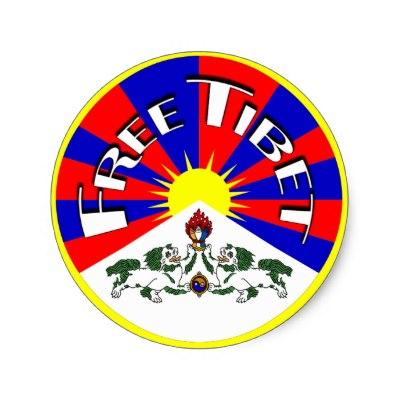 Tibet/Tibetan Flag. Free Tibet Classic Round Sticker.
