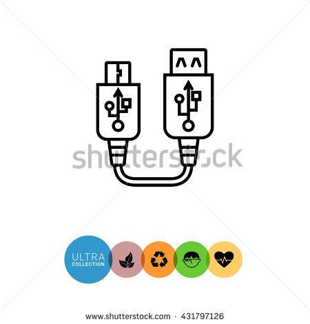 Mini Usb Hdmi Cable Stock Vector 428727985.
