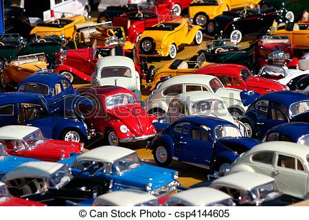 Stock Images of Miniature cars jam.