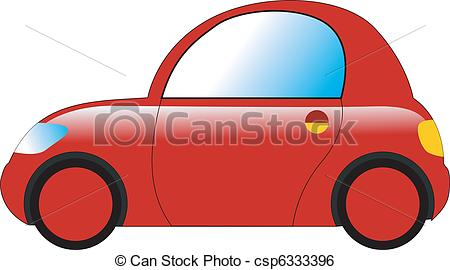 Clip Art Vector of mini car csp6333396.