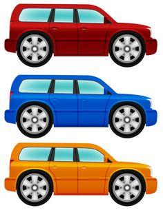2 matchbox cars clipart.
