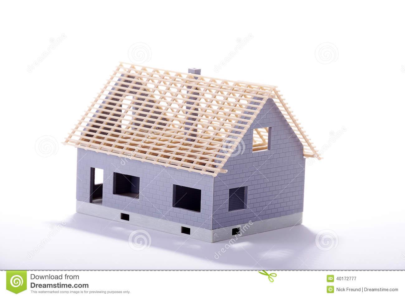 Unfinished Miniature House Stock Illustration.