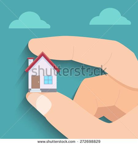 Mini House In Hand Stock Vector Illustration 272698829 : Shutterstock.