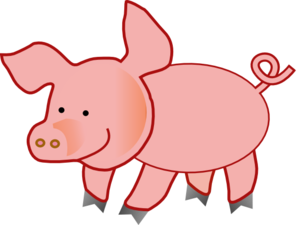 Small Pig Clip Art at Clker.com.