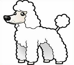 Free line clipart poodle dog.