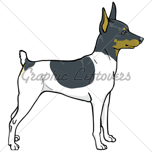 Toy fox terrier clipart.