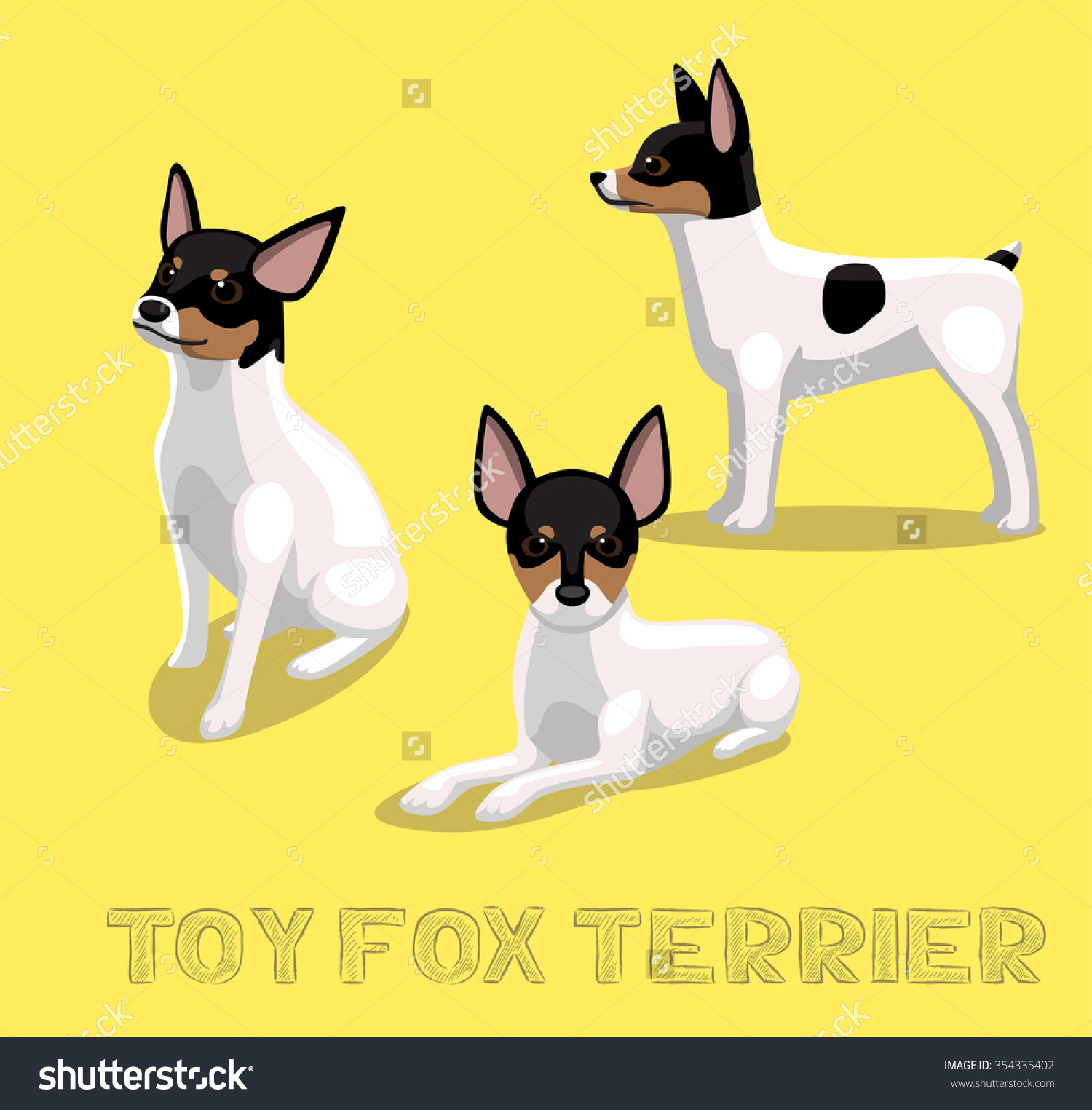 Miniature fox terrier clipart.