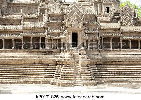 Stock Image of Miniature copy of Angkor Wat Temple at Wat Phra.