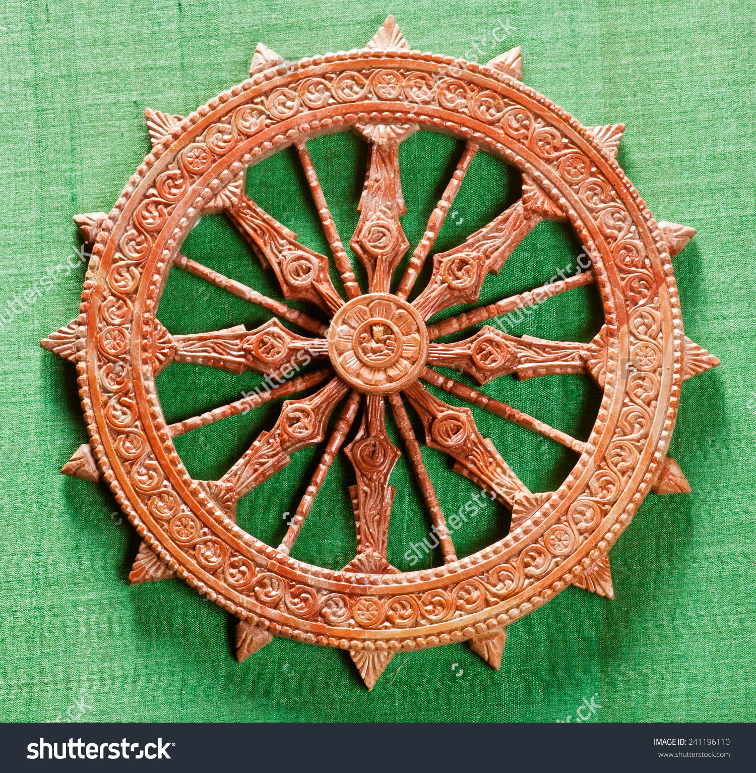 Miniature Replica Konark Sun Temple Wheel Stock Photo 241196110.