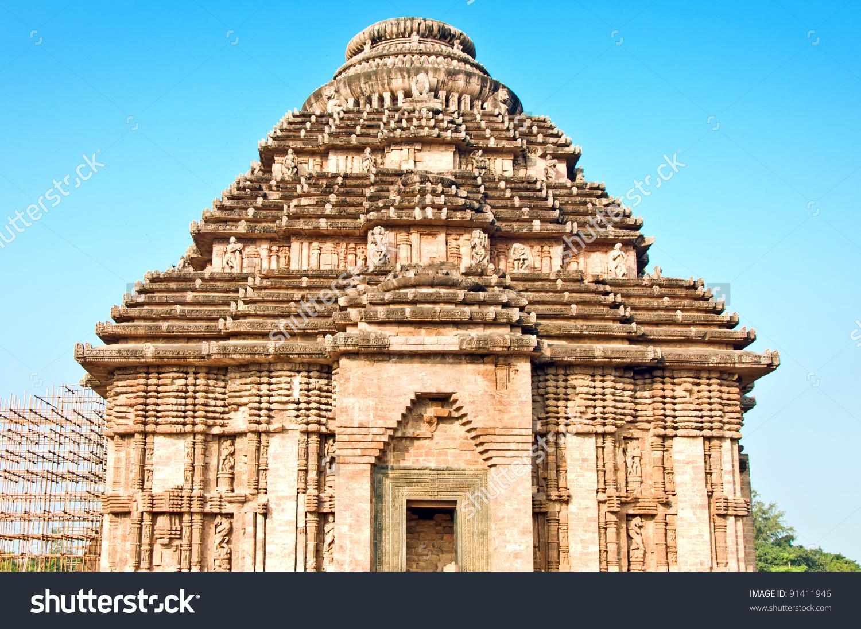 Beautiful Sun Temple Konark Orissa India Stock Photo 91411946.