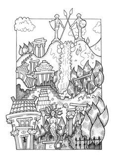 mountain temple fantasy.