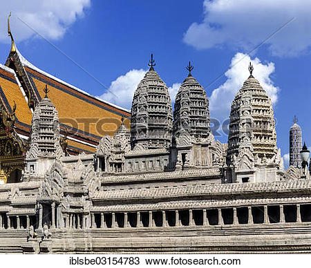"""Stock Photo of """"Miniature model of Angkor Wat in the courtyard of."""