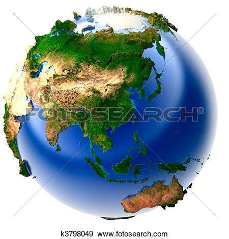 Stock Illustration of Miniature real Earth k3798049.