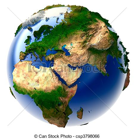 Stock Illustration of Miniature real Earth.