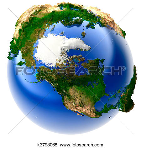 Stock Illustration of Miniature real Earth k3798065.