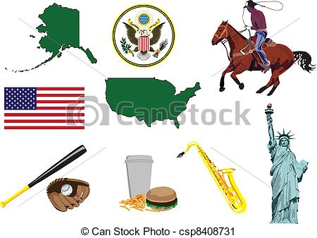 Vector Clip Art of Miniatures to represent characters in the U.S..