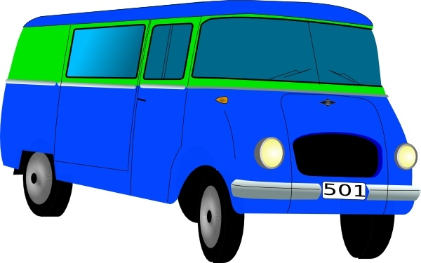 Mini Bus clip art Free vector in Open office drawing svg ( .svg.