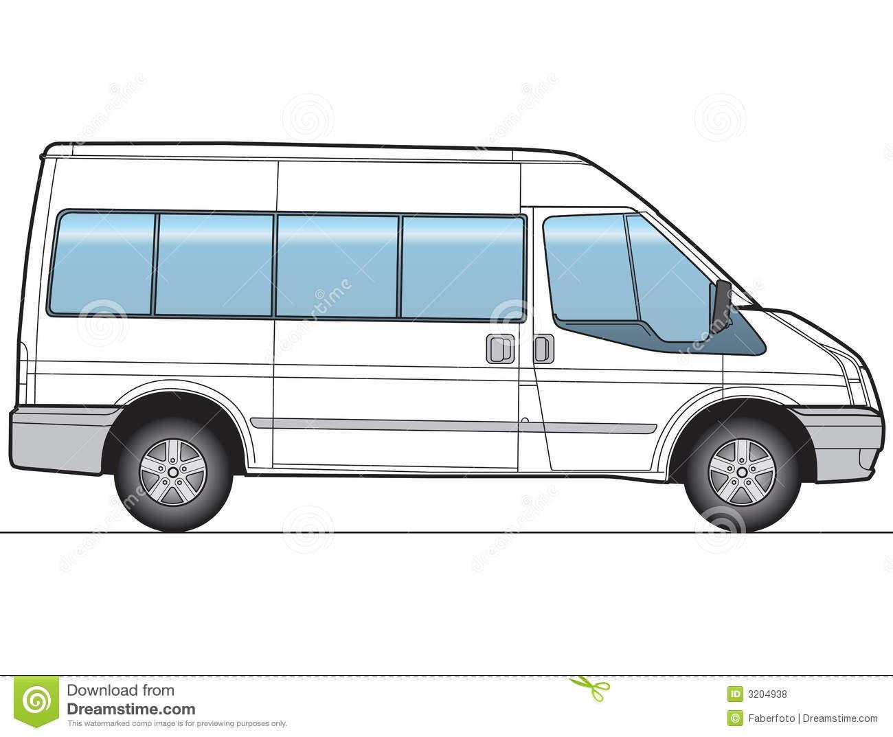 Minibus Stock Illustrations.