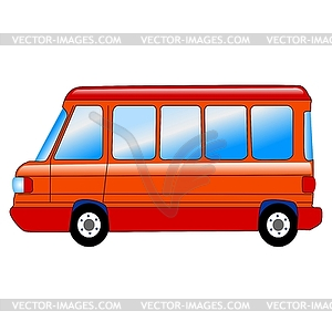 Small Bus Clipart.