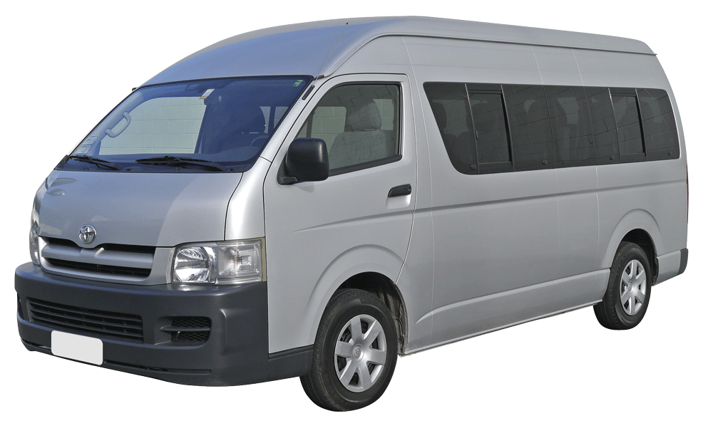 White Bus PNG Image.