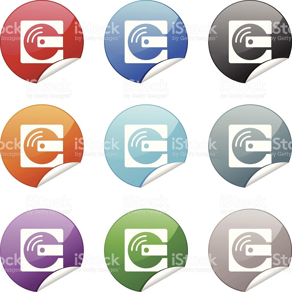 Sticker Icon Mini Disc stock vector art 153967762.