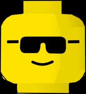 Lego minifigure head clipart.