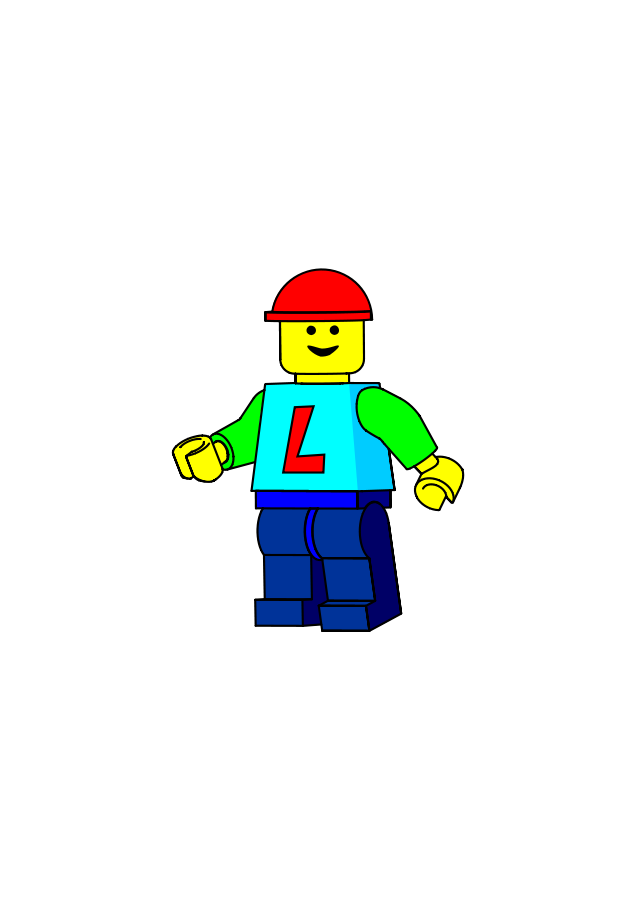 Minifig small clipart 300pixel size, free design.