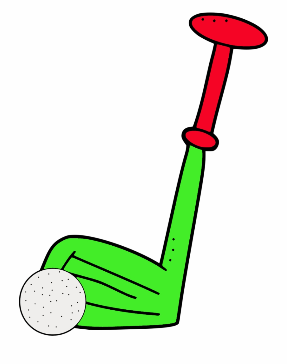 Cartoon Golf Set Png Clipart.