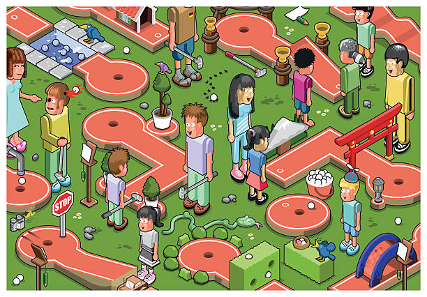 Best Miniature Golf Illustrations, Royalty.