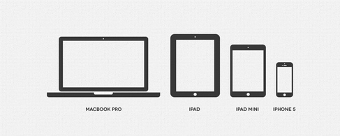 Minimal Apple Device Icons, free vectors.