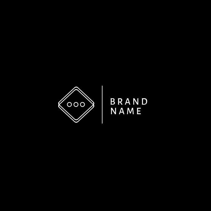 Cool Minimal Black & White Exclusive Logo.