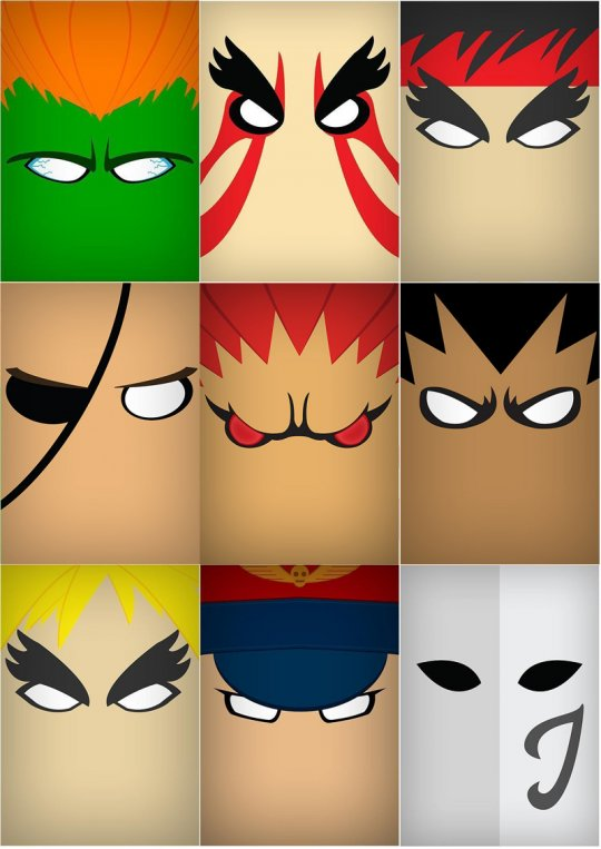 Daily Bite: Minimalist Street Fighter.