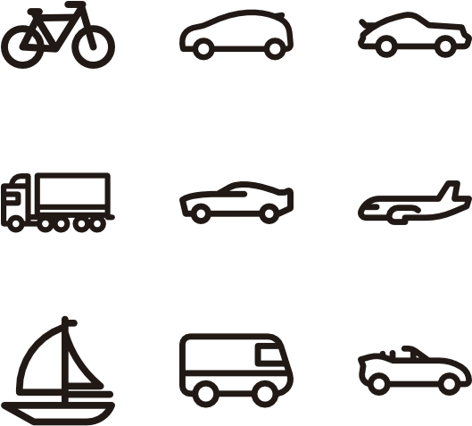 Car Icons Minimalist.