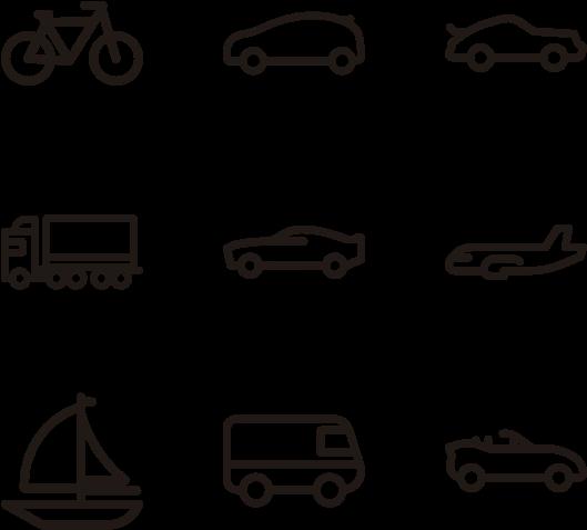 Car Icons Minimalist.