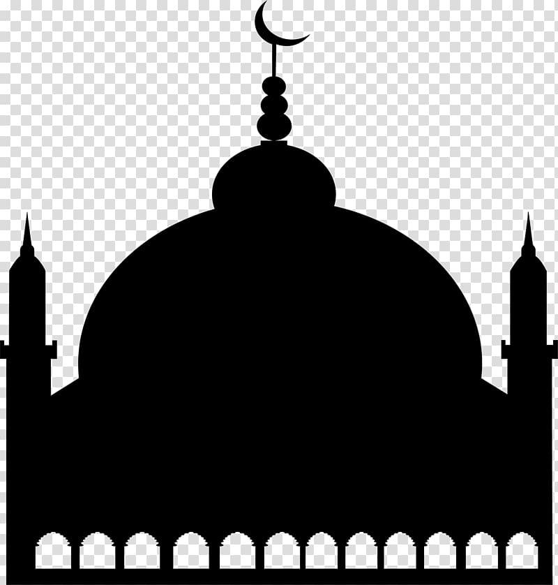 Symbol Mosque Salah Logo, Black minimalist Church.