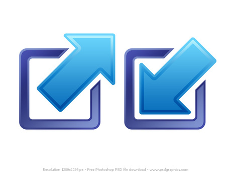 PSD minimize and maximize icons, Clipart.