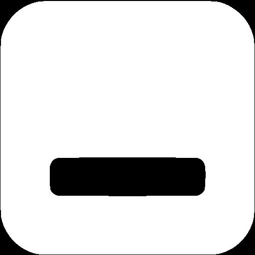 White minimize window icon.