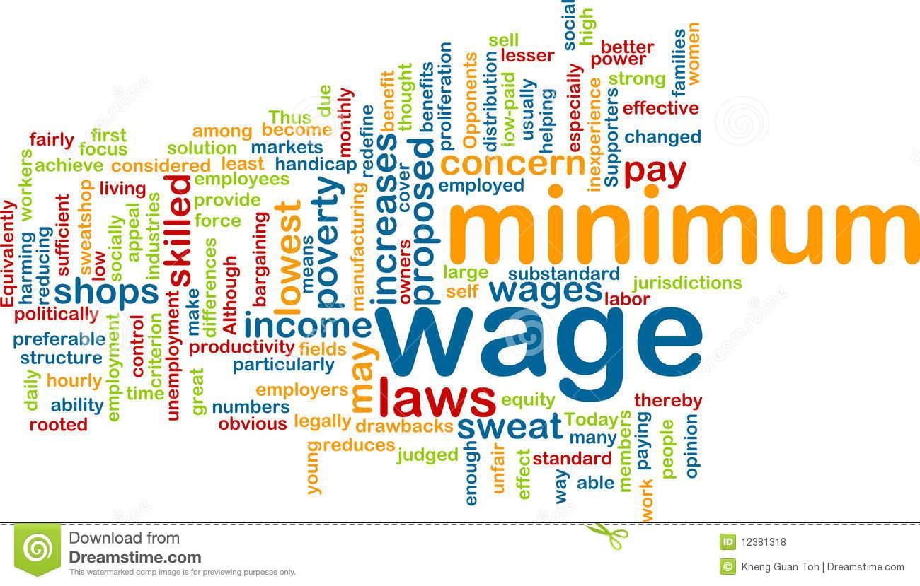 Minimum Wage Clip Art.