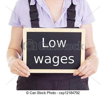 Low wages clipart.