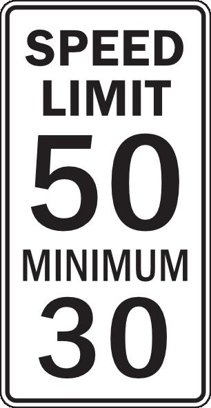 Speed Limit And Minimum Clip Art at Clker.com.