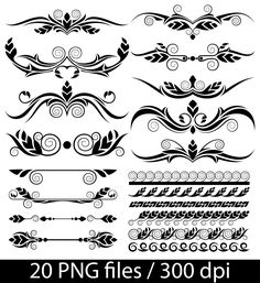 Page Borders Frames Black 8 x 11 Rectangle Digital VECTOR.