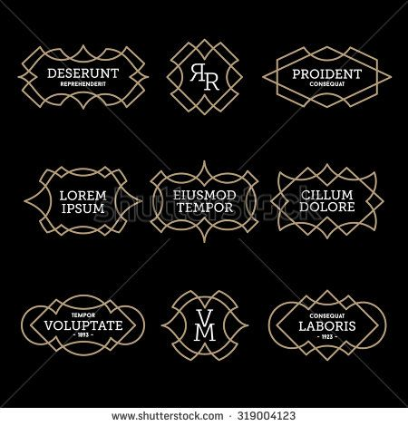 luxury antique vintage monochrome art deco old hipster minimal.