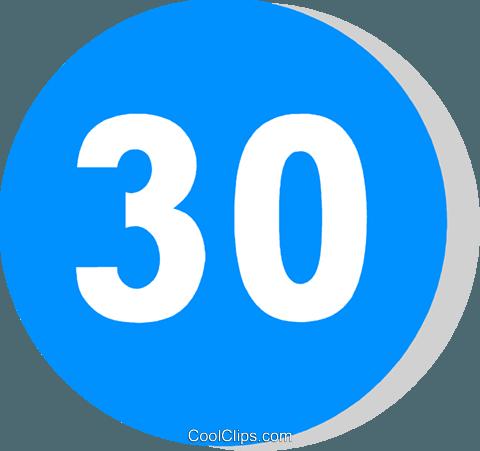 EU traffic sign, minimum speed limit Royalty Free Vector Clip Art.
