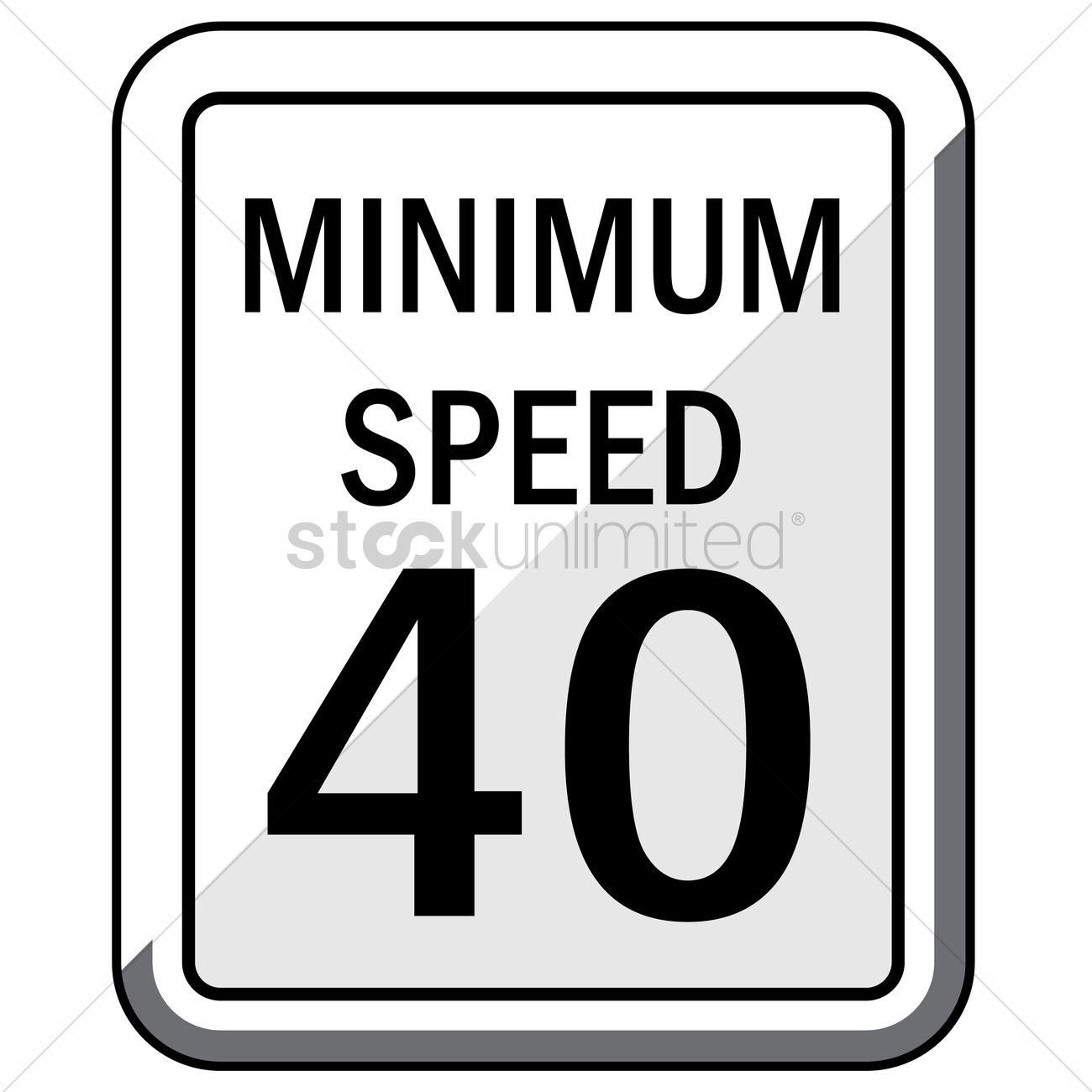 Minimum speed 40 road sign Vector Image.