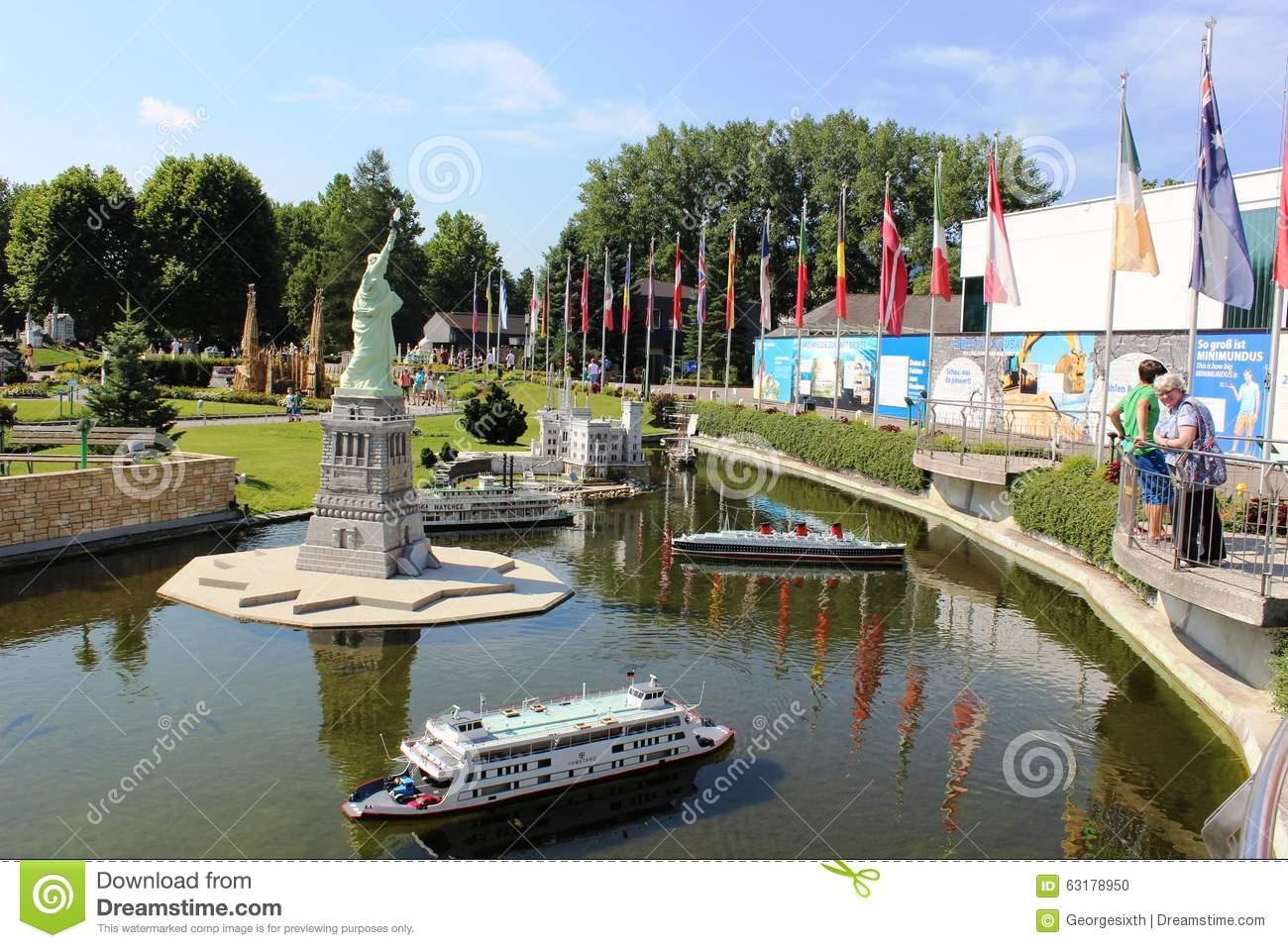 Minimundus Miniature Park At Klagenfurt, Austria Editorial Image.