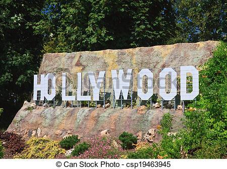 Stock Photo of Hollywood Sign Klagenfurt. Miniature Park.