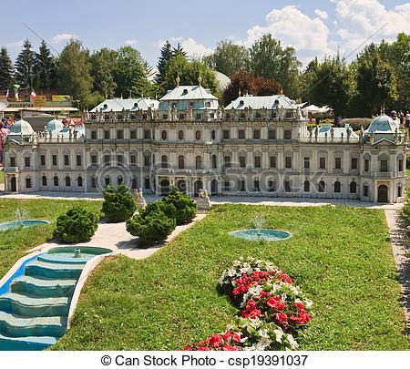 Stock Photos of Belvedere, Vienna. Austria. Klagenfurt. Miniature.