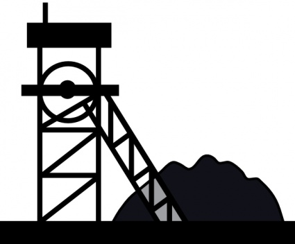 Mining Clipart Black And White.